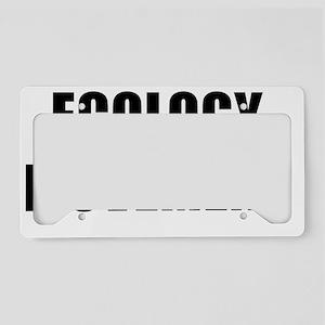 ECOLOGY MOVEMENT black License Plate Holder