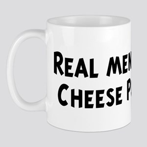 Men eat Cheese Puffs Mug