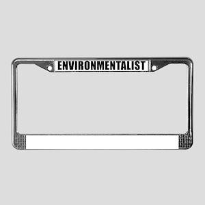 ENVIRONMENTALIST - black License Plate Frame