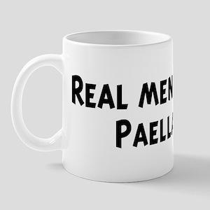 Men eat Paella Mug