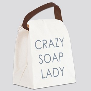 Crazy Soap Lady Canvas Lunch Bag