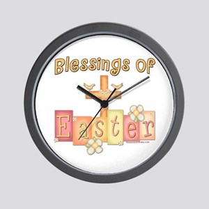 Easter Religion Blessings Wall Clock