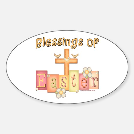 Easter Religion Blessings Oval Bumper Stickers