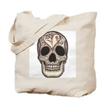 Skull with a Broken Heart Tote Bag