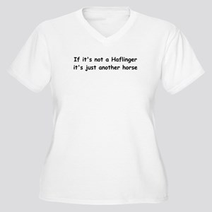 Not a Haflinger? Women's Plus Size V-Neck T-Shirt