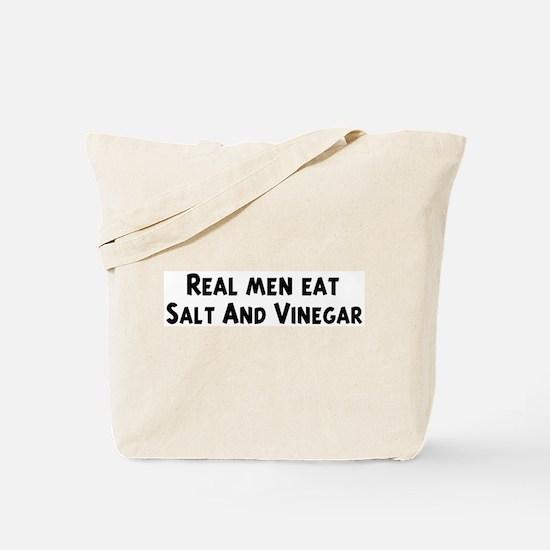 Men eat Salt And Vinegar Tote Bag