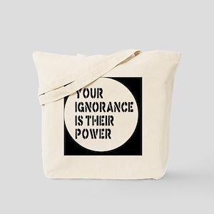 ignorancebutton Tote Bag