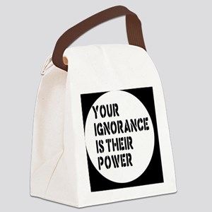 ignorancebutton Canvas Lunch Bag