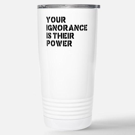 ignorancerectangle Stainless Steel Travel Mug