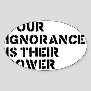 ignorancerectangle Sticker (Oval)
