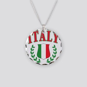 Italy Necklace Circle Charm