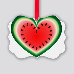 Watermelon Heart Picture Ornament