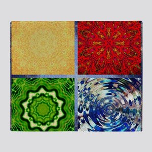Five Elements Squared Throw Blanket