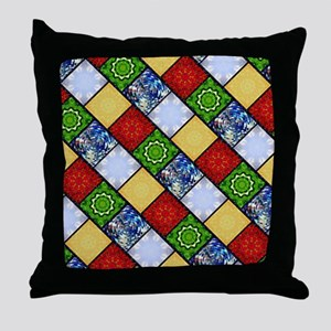 Five Elements Tiled Throw Pillow