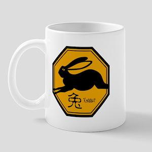 Zodiac Rabbit Traffic Sign Mug
