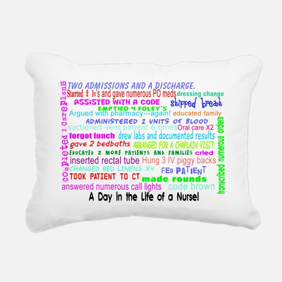 a day in the life of a n Rectangular Canvas Pillow