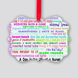 a day in the life of a nurse 3 Picture Ornament
