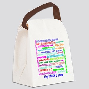 a day in the life of a nurse larg Canvas Lunch Bag