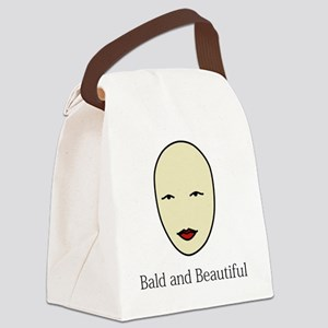 Bald is Beautiful Canvas Lunch Bag