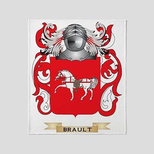 Brault Coat of Arms Throw Blanket