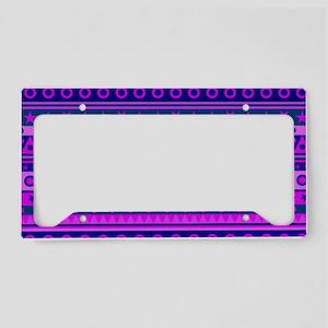 Purple Stripy Stars and Spots License Plate Holder