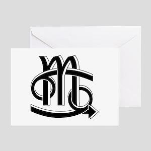 Cancer & Scorpio B/W Greeting Cards (Pk of 10)