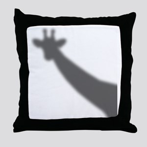 Giraffe Shadow Throw Pillow