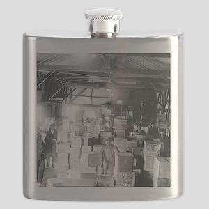 Bootleg Whiskey Warehouse Flask