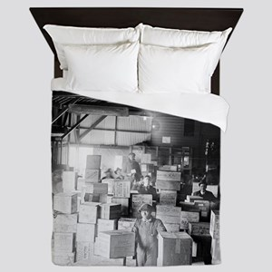 Bootleg Whiskey Warehouse Queen Duvet