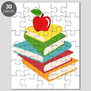 books and apple school design Puzzle