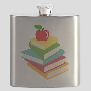 books and apple school design Flask
