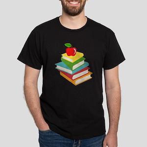books and apple school design Dark T-Shirt