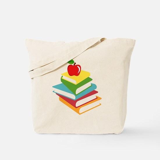 books and apple school design Tote Bag