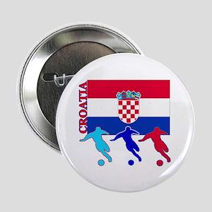 "Croatia Soccer 2.25"" Button (10 pack)"