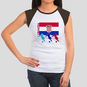 Croatia Soccer Women's Cap Sleeve T-Shirt