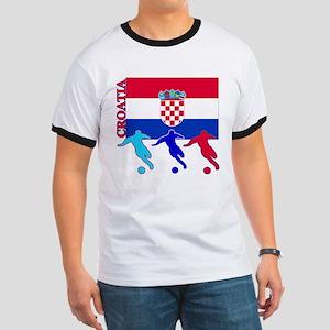 Croatia Soccer Ringer T