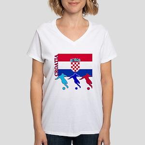 Croatia Soccer Women's V-Neck T-Shirt