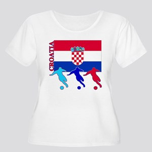 Croatia Soccer Women's Plus Size Scoop Neck T-Shir