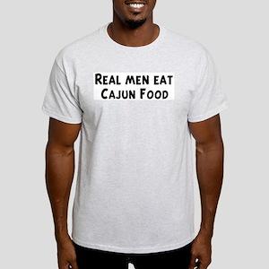Men eat Cajun Food Light T-Shirt
