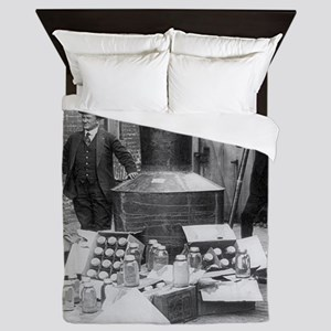 Seized Moonshine Still Queen Duvet