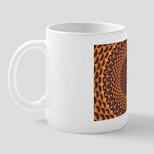 Golden Rainbow Mandala Pattern Mug