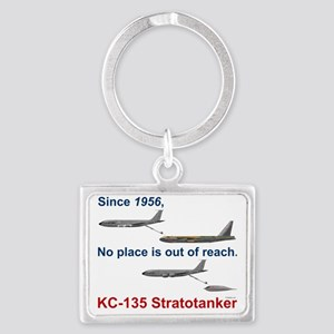 KC-135 refueling a B-52 and a B Landscape Keychain