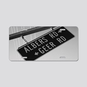 Albers Turns Into Geer Aluminum License Plate