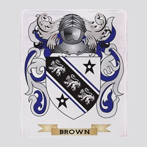 Brown Coat of Arms Throw Blanket