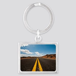Theres nothing the road cannot  Landscape Keychain