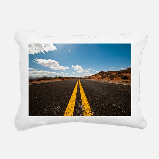 Theres nothing the road  Rectangular Canvas Pillow
