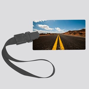 Theres nothing the road cannot h Large Luggage Tag