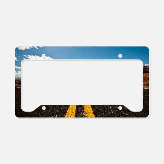 Theres nothing the road canno License Plate Holder