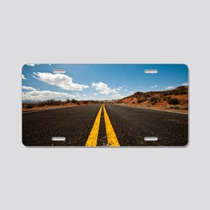 Theres nothing the road can Aluminum License Plate