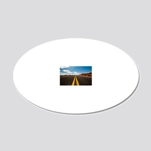 Theres nothing the road cann 20x12 Oval Wall Decal